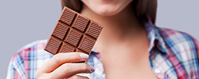 Woman holding chocolate